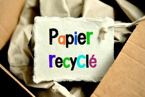 visuel papier recyclé