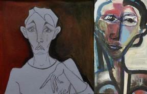 peinture des 2 artistes