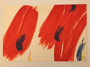 """""""Sans titre"""", carte de voeux de l'artiste pour l'année 1990 lithographie , 1989"""
