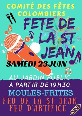 visuel affiche fête de la St jean - Colombiers