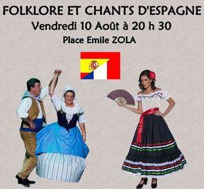 affiche folklore et chants d'Espagne